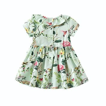 Kids Infant Baby Girls Clothing Sets Cotton Flower Print Summer Dresses +Shorts Baby Sets Toddler Girl Clothes