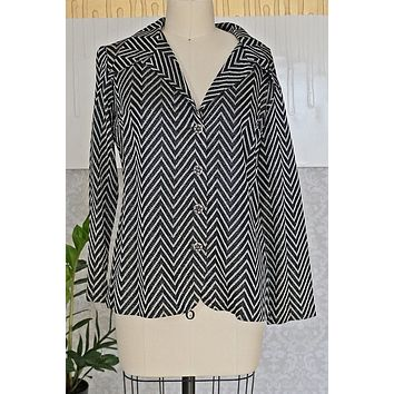 Vintage Metallic  Chevron Blouse