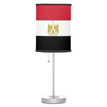 Patriotic table lamp with Flag of Egypt