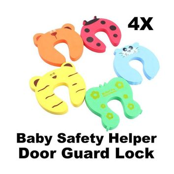 4 Pcs Baby Safety Door Stop Finger Pinch Guard
