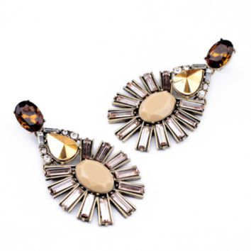 Champagne Feather Earrings