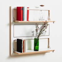 MONOQI | Triple Fläpps Shelf - White
