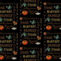 Thanksgiving Harvest Text fabric - 13moons_design - Spoonflower