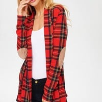 Camille Plaid Cardigan -