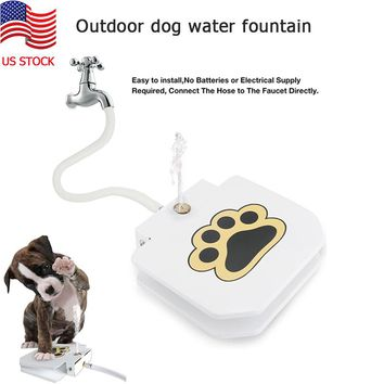 Outdoor Dog Pet Water Fountain Automatic Pet Water Feeder Dog Pedal Water Dispenser For Small Doggy Large Dogs Drinking