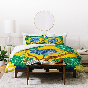 Juliana Curi Brazil Flag Duvet Cover