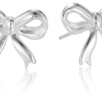 Sterling Silver Bow Post Earrings