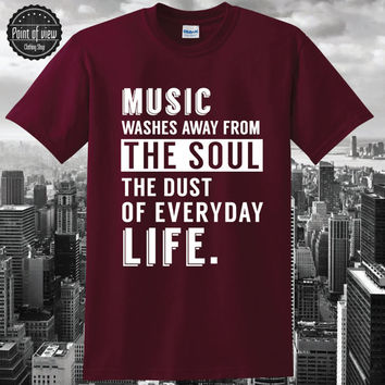 Quote T-Shirt,pablo picasso,music shirt, djs t-shirt,tumblrshirt, typography,cotton tee,electronic music, party shirt,nightlife,unisex,NEW
