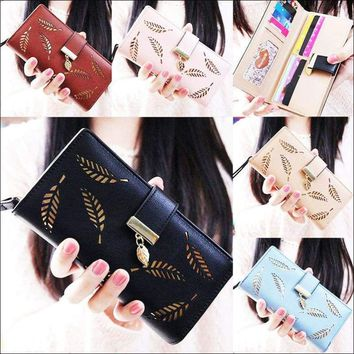Leather Card Holder Clutch