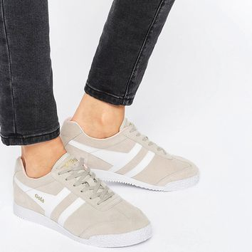 Gola Classic Harrier Sneakers In Nude & White