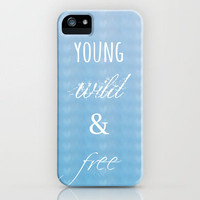Young, Wild & Free iPhone Case by Ally Coxon | Society6