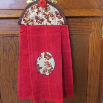 Hanging Kitchen Towel, Hanging Hand Towel, Hanging Tea Towel, Hanging Dish Towel, Tie Towel