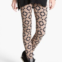 Threads for Thought Geometric Print Leggings (Juniors) (Online Only) | Nordstrom