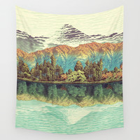 The Unknown Hills in Kamakura Wall Tapestry by Kijiermono