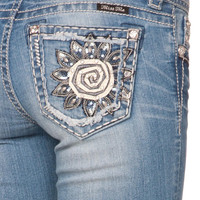 Miss Me Flower Window Cut Out Skinny Jeans