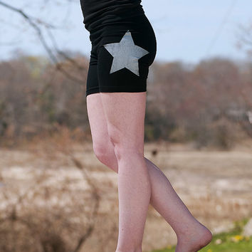 make your mark Star Yoga Shorts, Workout Shorts, Bike Shorts, S,M,L