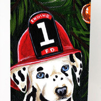 Fire Fighter Christmas Dalmatian Ultra Beverage Insulators for slim cans AMB1317MUK