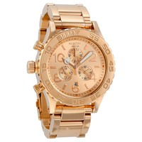 Nixon 42-20 Chronograph Rose Gold-plated Mens Watch  A037897