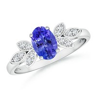 Vintage Inspired Oval Solitaire Tanzanite Ring
