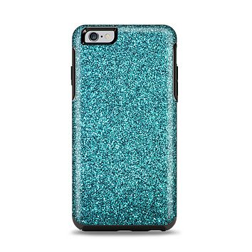 The Teal Glitter Ultra Metallic Apple iPhone 6 Plus Otterbox Symmetry Case Skin Set