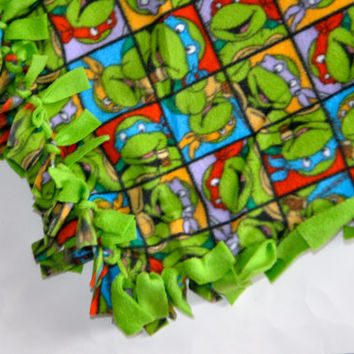 Teenage Mutant Ninja turtles blanket, TMNT Fleece tie blanket, Ninja turtle blanket, Turtle blanket, toddler blanket, kids fleece blanket