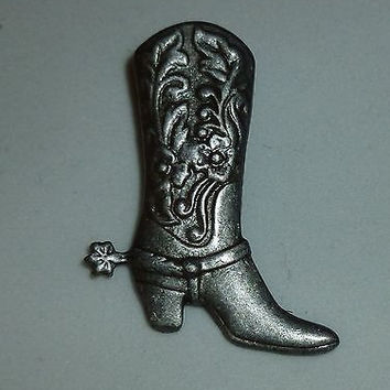 Country Western Cowboy Boot Pin
