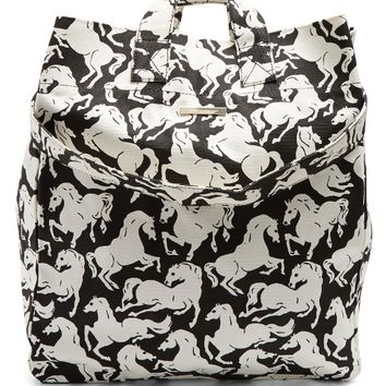 Horse-pattern cotton-canvas beach bag | Stella McCartney | MATCHESFASHION.COM US