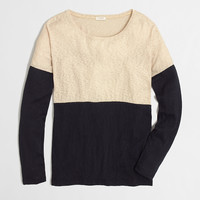 Factory colorblock drop-shoulder tee : Knits & Tees | J.Crew Factory