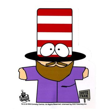 PEAPGQ9 South Park - Mr. Hat Decal
