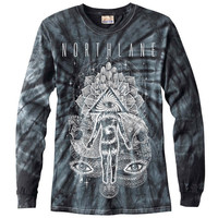 Northlane Men's  Omni Tie Dye  Long Sleeve Multi Rockabilia