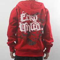 Europe And The United States Men Hiphop Death Skull Loose Hoodies Fleece Cardigan Zipper Coat Hi-street Hoodies Fear Of God