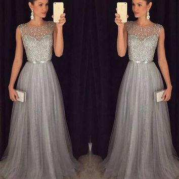 US-Sleeveless-Women-Formal-Wedding-Bridesmaid-Long-Evening-Party-Ball-Prom-Dress