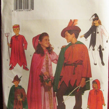SALE Uncut Butterick Sewing Pattern, 5673! All Size/Kids/Children/Girls/Boys Halloween Costumes/Devil/Robin Hood/Maid Marian/Little Riding H