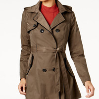 Laundry by Shelli Segal Corset-Back Trench Coat - Coats - Women - Macy's