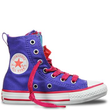 Chuck Taylor All Star Party Youth Periwinkle Berry Pink Blush - Sneakers - Kids