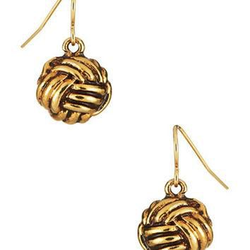 Lauren Ralph Lauren Monkey Fist Knotted Drop Earrings