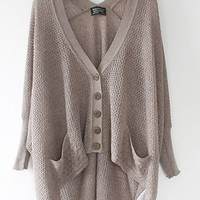 A 072901 Lazy loose bat hollow sweater