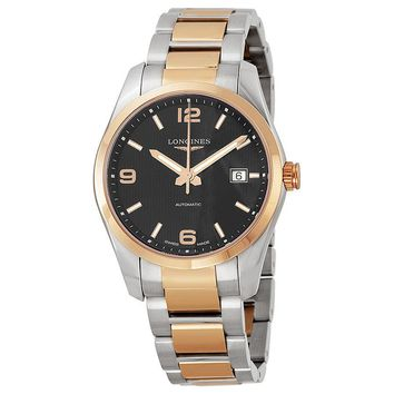 Longines Conquest Classic Black Dial Two-tone Mens Watch L2.785.5.56.7