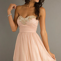 Short Strapless Sweetheart Dress by Morgan