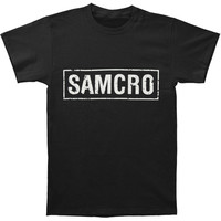 Sons Of Anarchy Men's  Samcro Banner T-shirt Black Rockabilia