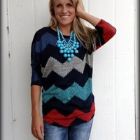 Making My Own way Chevron Dolman top in plus sizePurchase