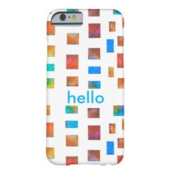 custom case colorful abstract art with text barely there iPhone 6 case