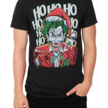 DC Comics The Joker Christmas T-Shirt