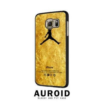 CREYUG7 Michael Jordan Golden Gold Pattern Samsung Galaxy S6 Edge Case Auroid