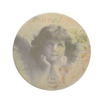 French Postcard Beverage Coaster