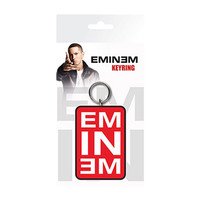 Eminem Logo Rubber Key Chain Red