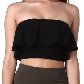 Better Together Ruffle Crop Top