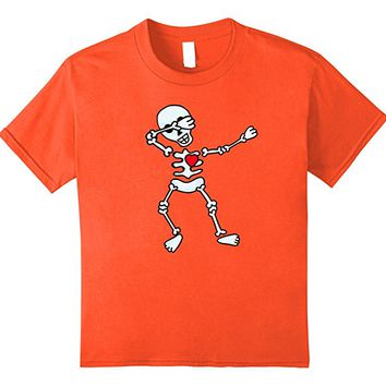 Dabbing Skeleton Halloween T shirt by Scarebaby