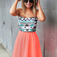 Sweet On Sequin Dress {Coral}
