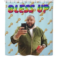 Bless up DJ khaled shower curtain